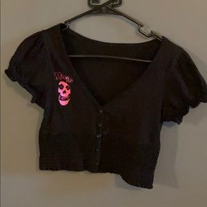 Misfits Custom made Crop Top